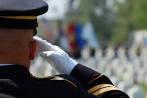 soldier saluting fallen comrades picture