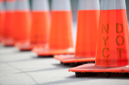Image of traffic cones for G-8 Summit Traffic Congestion and Road Closures