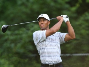 Imahge of Tiger Woods as he returns for 2012 AT&T National at Congressional Country Club