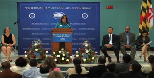 Nancy Navaro at hispanic summit