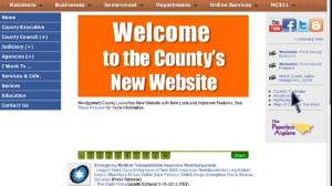 Montgomery County new website