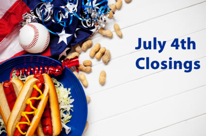 July 4 closings