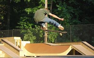Skateboarder at Rockville Skate Park picture