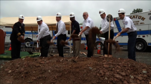 groundbreaking ceremony for the Wheaton Volunteer Fire Rescue Station