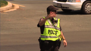 Image of Police Officier directing traffic