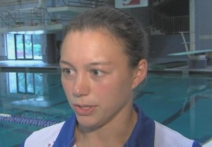 image of Cassity Krug Olypic diver at Montgomery County Aquatic Center