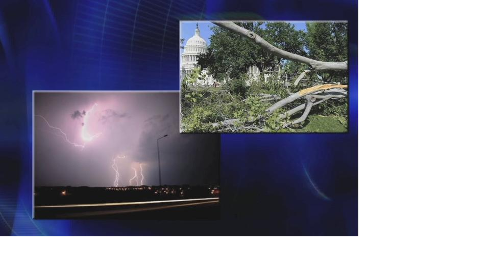 Image of trees down and lightening