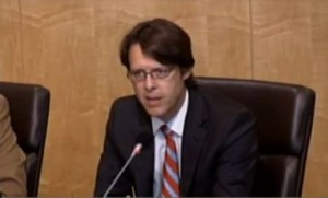 Image of Hans Riemer speaking at the Pepco Debriefing on July 19, 2012