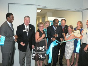 Ribbon cutting ceremony at GGCC new offices