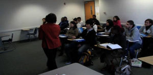 Montgomery College classroom with students