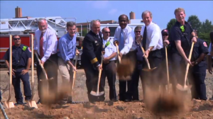 groundbreaking at Travilah Firestation