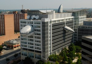 Discovery Communications building with Chompie in 2012