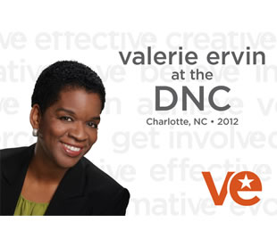 Valerie Ervin at the DNC