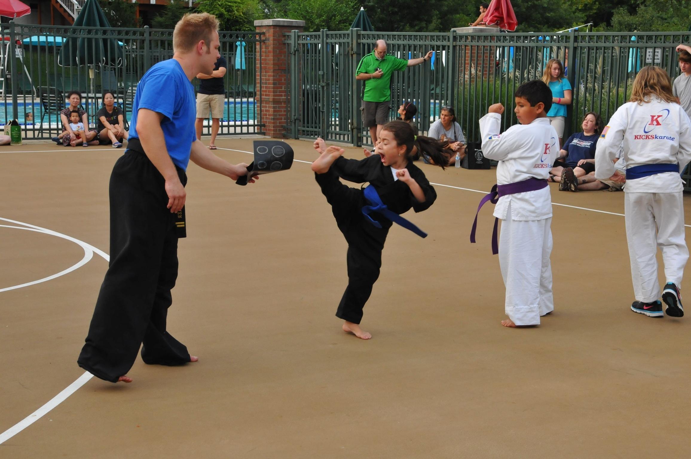 National Night Out Sign at Kicks Karate | Montgomery