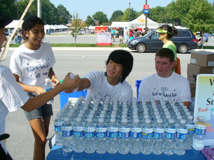 Students at MCPS Back to School Fair