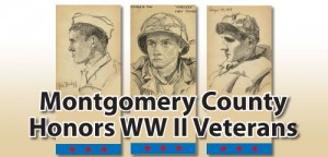 logo for program where Montgomery County Will Honor World War Two Veterans
