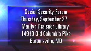 Social Security forum graphic