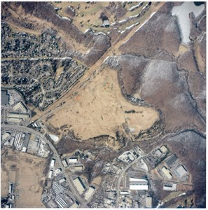 Aerial photo of Gude Landfill