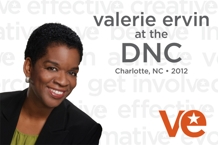 Valerie Ervin at the DNC graphic