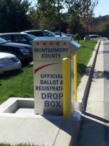 MoCo Board of Elections drop box