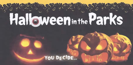 Hallowwen in the Parks flyer