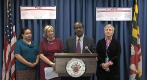 Ike Leggett and Board of Elections officials