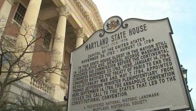Maryland State House Sign