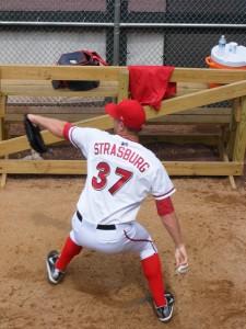 Steven Strasburg in the bullpen