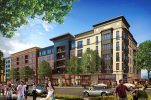 rendering of Crown development Gaithersburg, Maryland