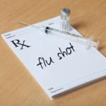 flu shot on prescription pad