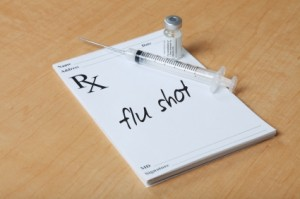 flu shot on prescription pad