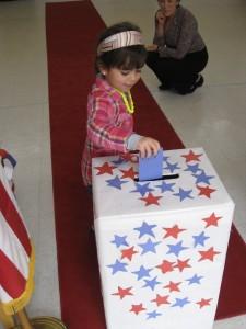 4 12 yr old Ava Jackson casts her ballot