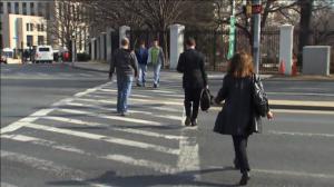 Pedestrians on street