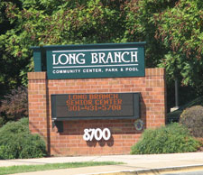 Long Branch Center sign