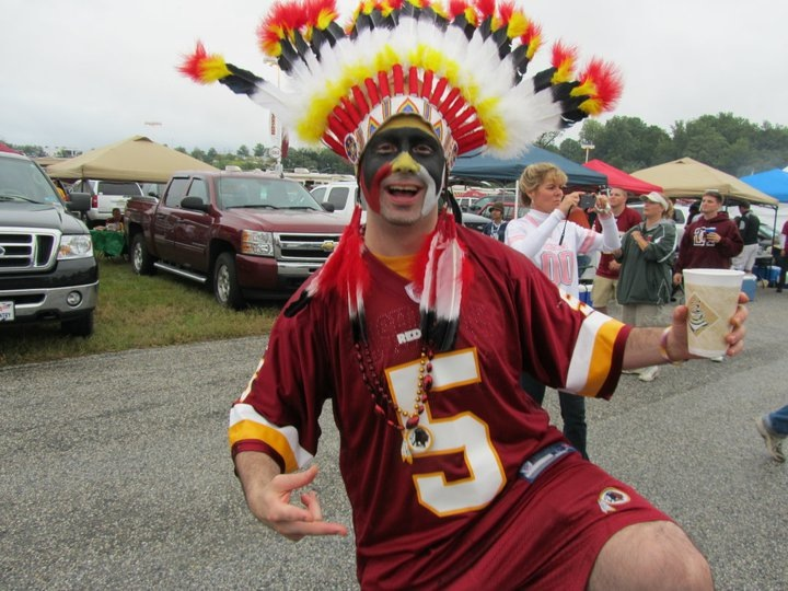 Redskins Fan Dresses Up for Games (Photos)   Montgomery Community Media