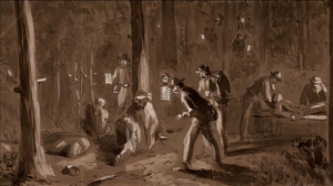 drawing of Civil War