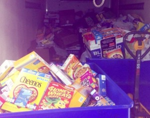 photo truck full of donated cereal