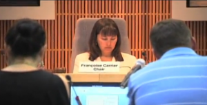 photo Francoise Carrier at planning board meeting