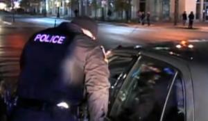 photo nighttime police stop