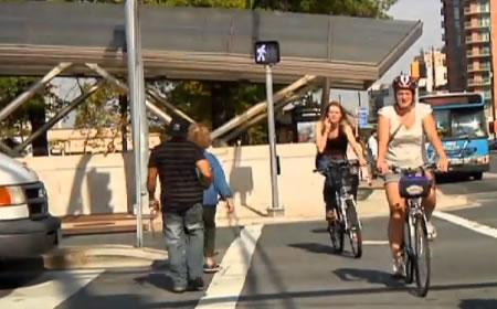 photo crosswalk with bikers