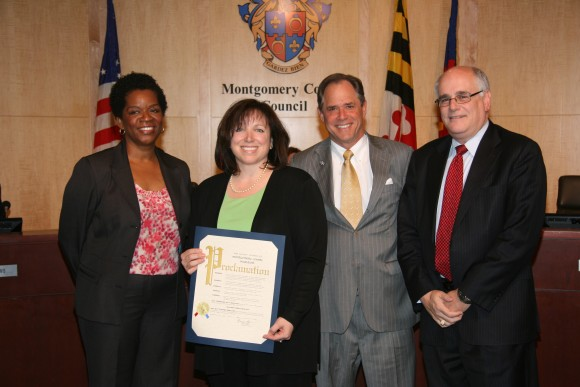 photo at MoCo Council honoring Teacher Appreciation week