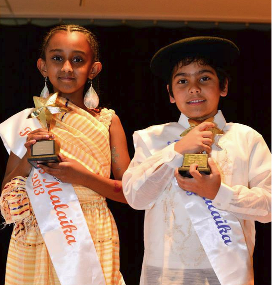 Princess Semai is representing Eritrea and Prince Alexis is representing France and Philippines. (left to right)