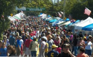 photo of crowd gathered at Poolesville Day