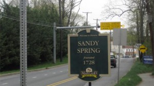 photo of Sandy Spring sign
