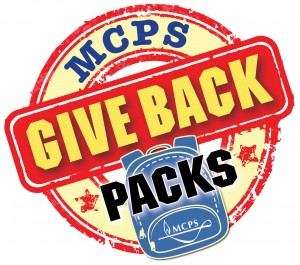 MCPS Give Back packs