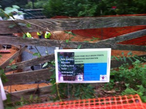 Montgomery County posted signs announcing construction dates.
