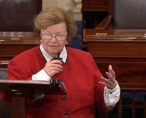 Mikulski on senate floor oct 10