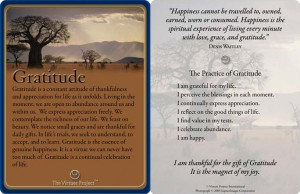 Read this card and share with others what you are most grateful for.