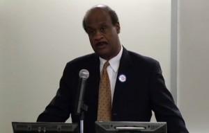 County Executive Isiah Leggett at Montgomery County Veterans Education and Benefits Partnership launch