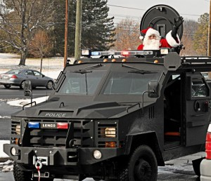 Santa in a Bearcat Photo | MCPD